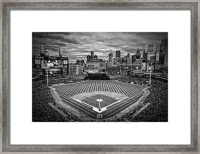 Detroit Tigers Comerica Park Bw 4837 Framed Print by David Haskett