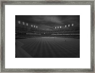 Detroit Tigers Comerica Park Bw 4930 Framed Print by David Haskett