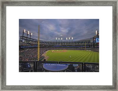 Detroit Tigers Comerica Park Right Field View 1 Framed Print by David Haskett