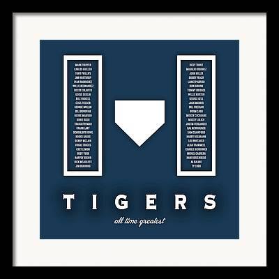 Detroit Tigers Art Digital Art Framed Prints