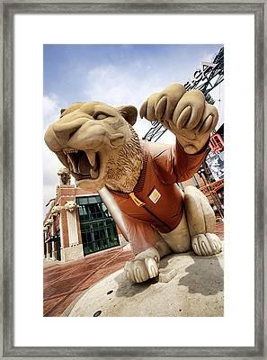 Detroit Tigers Tiger Statue Outside Of Comerica Park Detroit Michigan Framed Print by Gordon Dean II