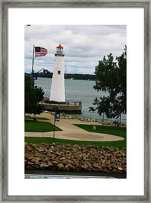 Detroit Waterfront Lighthouse Framed Print