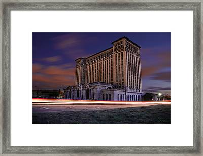 Framed Print featuring the photograph Detroit's Abandoned Michigan Central Station by Gordon Dean II