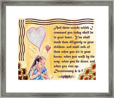 Deuteronomy6 Framed Print