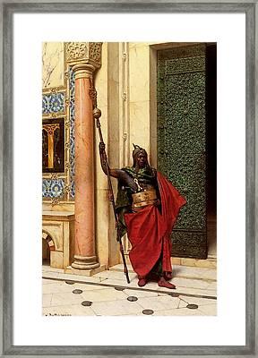 Deutsch Ludwig A Nubian Guard Framed Print