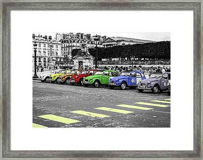 Deux Chevaux In Color Framed Print
