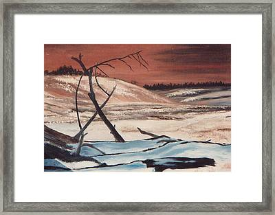 Devastation Of Depression Framed Print by L A Raven