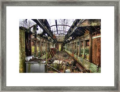 Devastation Train Car Fire Art  Framed Print