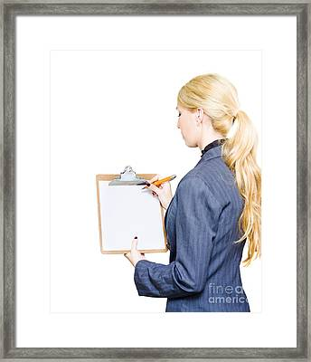 Develop Business Plan Framed Print by Jorgo Photography - Wall Art Gallery