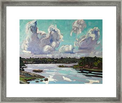Developing Showers Framed Print by Phil Chadwick