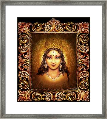 Devi Darshan In A Frame Framed Print by Ananda Vdovic