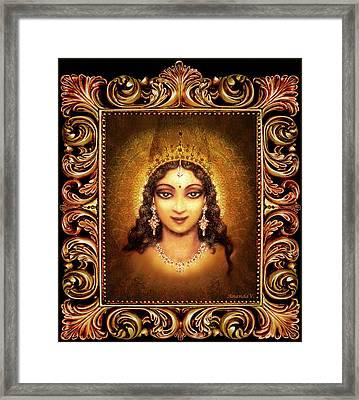 Devi Darshan In A Frame Framed Print by Ananda Vdovic