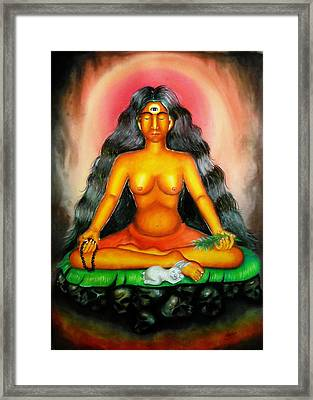 Devi Kali Goddess Framed Print by Sri Mala