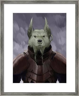 Devil Dog Framed Print