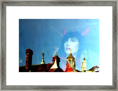 Devil In The Clouds Framed Print by Jez C Self