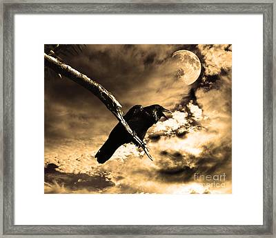 Devil In The Clouds Framed Print