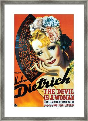Devil Is A Woman, The, Marlene Framed Print by Everett