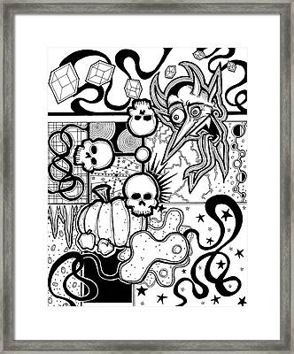 Devil Montage Framed Print by Christopher Capozzi