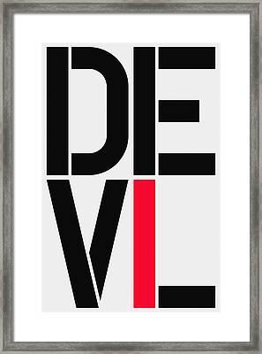 Devil Framed Print by Three Dots