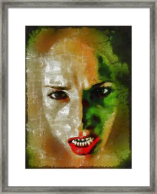 Devil Woman Framed Print by Mary Bassett
