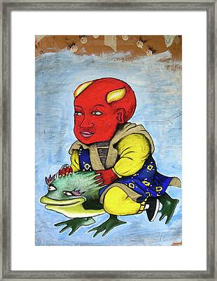Devilboy Framed Print by Billy Knows