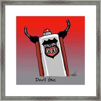 Devil Gas Framed Print
