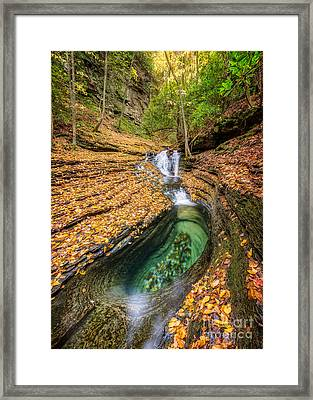 Devils Bathtub Autumn Framed Print