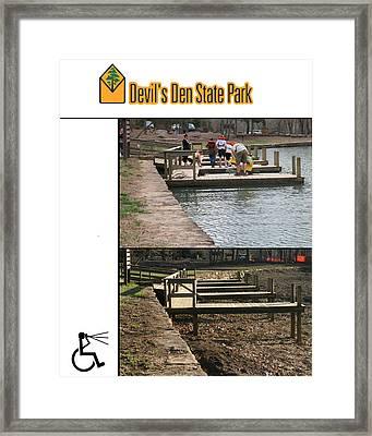 Devils Den State Park Time-lapse Framed Print by Curtis J Neeley Jr