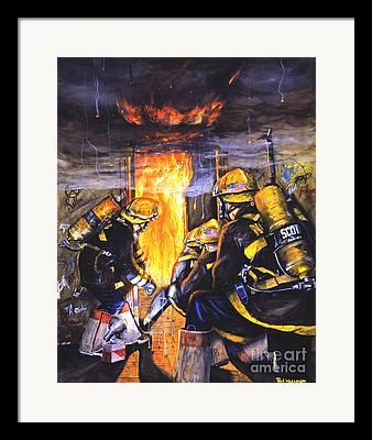 Firemen Framed Prints