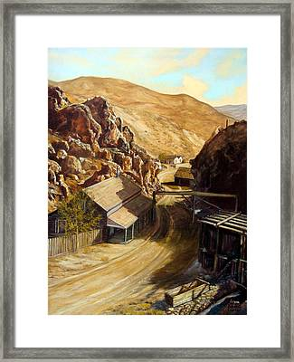 Devils Gate Nevada Framed Print by Evelyne Boynton Grierson