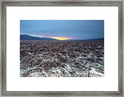 Framed Print featuring the photograph Devil's Golf Course  by Catherine Lau
