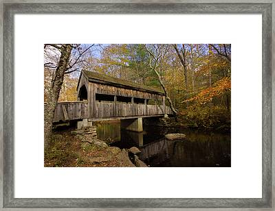 Framed Print featuring the photograph Devil's Hopyard Covered Bridge by Kirkodd Photography Of New England