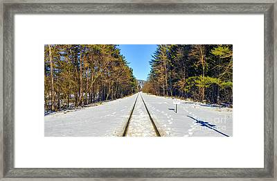 Framed Print featuring the photograph Devil's Lake Railroad by Ricky L Jones