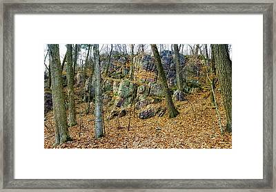 Framed Print featuring the photograph Devils Lake Rock Formation  by Ricky L Jones