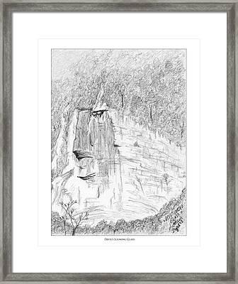 Devil's Looking Glass Framed Print by Matthew Byrd