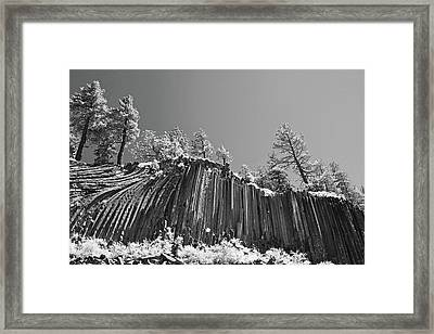 Devil's Postpile - Frozen Columns Of Lava Framed Print by Christine Till