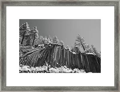 Devil's Postpile - Frozen Columns Of Lava Framed Print by Christine Till