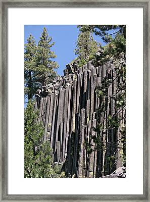 Devils Postpile National Monument - Mammoth Lakes - East California Framed Print by Christine Till