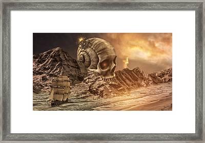 Devils Sandbox Framed Print