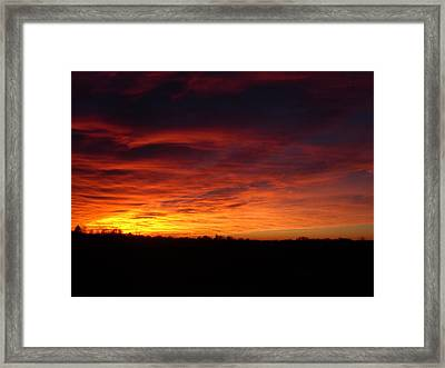 Devils Sky Framed Print
