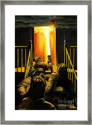 Devil's Stairway Framed Print by Paul Walsh