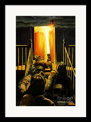 Fire Hose Framed Prints