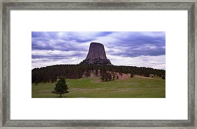 Framed Print featuring the photograph Devil's Tower 2 by Gary Lengyel