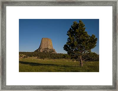Framed Print featuring the photograph Devil's Tower by Gary Lengyel