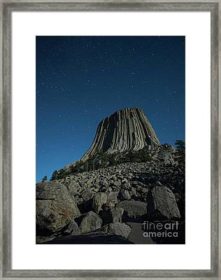 Devil's Tower Framed Print by Juli Scalzi