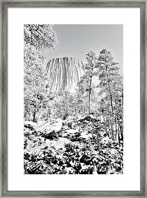 Devils Tower Wyoming Framed Print