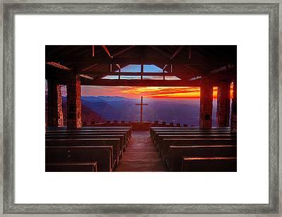 Devine Sunrise Framed Print