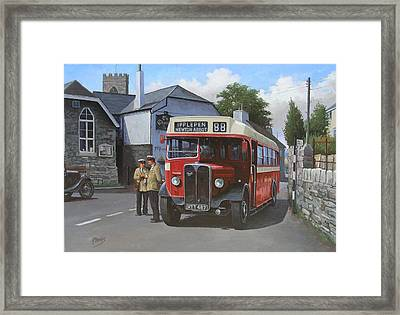 Devon General Aec Regal. Framed Print by Mike  Jeffries