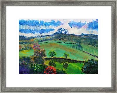 Devon Landscape Painting Framed Print by Mike Jory