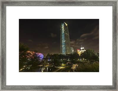Devon Tower Okc Framed Print